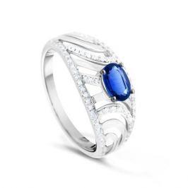Кольцо с сапфирами и бриллиантами из белого золота VALTERA 90030