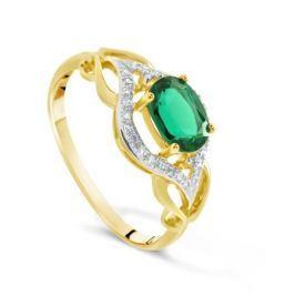 Кольцо с изумрудами и бриллиантами из розового золота VALTERA 71746