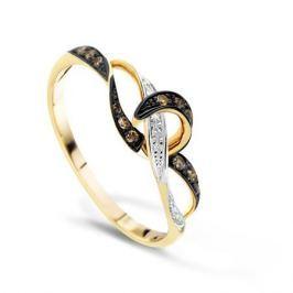 Кольцо с бриллиантами из розового золота VALTERA 70117