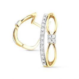 Серьги с бриллиантами из желтого золота VALTERA 53098