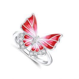 Кольцо с фианитами и эмалью из серебра VALTERA 91492