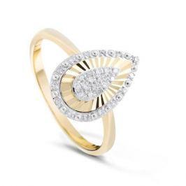 Кольцо с бриллиантами из желтого золота VALTERA 84055