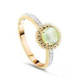 Кольцо с кварцем и бриллиантами из желтого золота VALTERA 53894