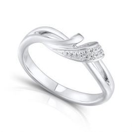 Кольцо с бриллиантами из серебра VALTERA 92413