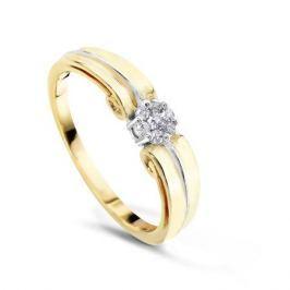 Кольцо с бриллиантами из желтого золота VALTERA 50891