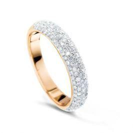 Кольцо с бриллиантами из розового золота VALTERA 51827