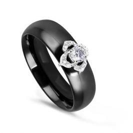 Кольцо с керамикой и бриллиантами из белого золота VALTERA 76226