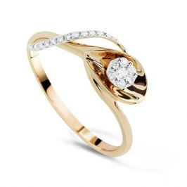 Кольцо с бриллиантами из желтого золота VALTERA 71118