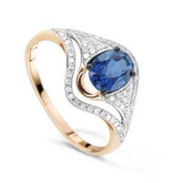 Кольцо с сапфирами и бриллиантами из розового золота VALTERA 78070