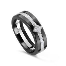 Кольцо керамика из серебра VALTERA 81587