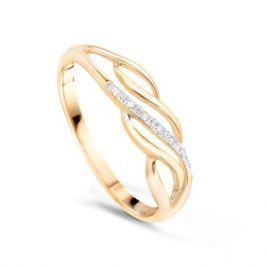 Кольцо с бриллиантами из розового золота VALTERA 48414