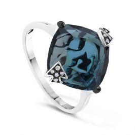 Кольцо с бриллиантами и топазами из белого золота VALTERA 51341