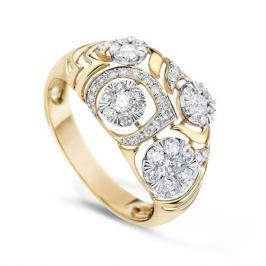 Кольцо с бриллиантами из желтого золота VALTERA 58038