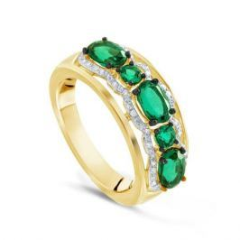 Кольцо с изумрудами и бриллиантами из розового золота VALTERA 73316