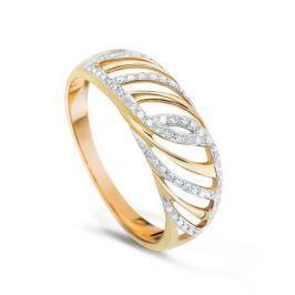 Кольцо с бриллиантами из розового золота VALTERA 74752