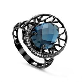 Кольцо с бриллиантами и топазами из белого золота VALTERA 53144
