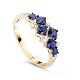 Кольцо с сапфирами и бриллиантами из розового золота VALTERA 89943