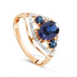 Кольцо с сапфирами и бриллиантами из розового золота VALTERA 77516