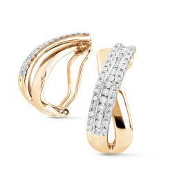 Серьги с бриллиантами из желтого золота VALTERA 70432