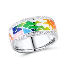 Кольцо с фианитами и эмалью из серебра VALTERA 92486