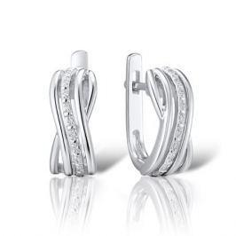 Серьги с бриллиантами из серебра VALTERA 84570
