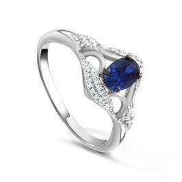 Кольцо с сапфирами и бриллиантами из белого золота VALTERA 92019