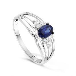 Кольцо с сапфирами и бриллиантами из белого золота VALTERA 55675