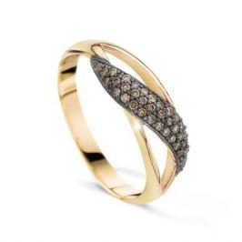 Кольцо с бриллиантами из розового золота VALTERA 20895
