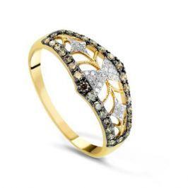 Кольцо с бриллиантами из желтого золота VALTERA 69919