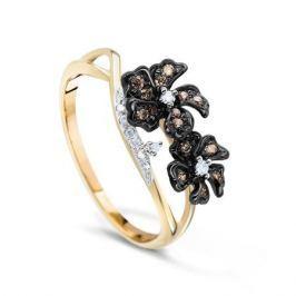 Кольцо с бриллиантами из розового золота VALTERA 72830