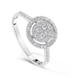 Кольцо с бриллиантами из белого золота VALTERA 84127