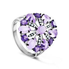 Кольцо с аметистами и бриллиантами из белого золота VALTERA 63668