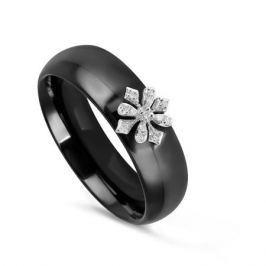 Кольцо с керамикой и бриллиантами из белого золота VALTERA 76948