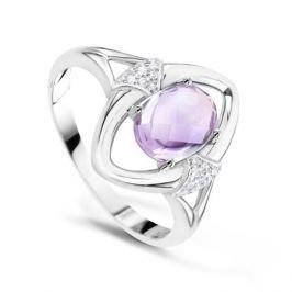 Кольцо с аметистами и бриллиантами из белого золота VALTERA 60470