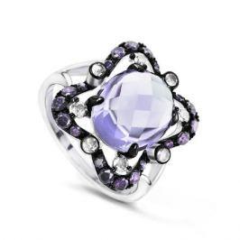 Кольцо с полудрагоценными камнями из белого золота VALTERA 62586