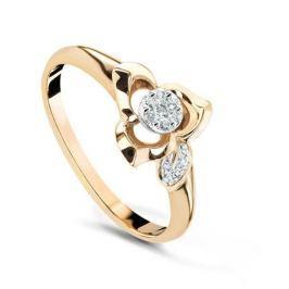 Кольцо с бриллиантами из розового золота VALTERA 54066