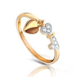 Кольцо из розового золота 87766