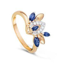 Кольцо с сапфирами и бриллиантами из розового золота VALTERA 23427