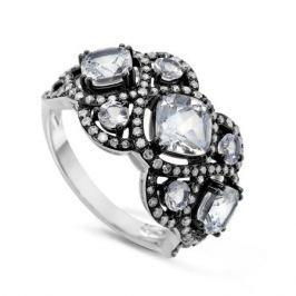 Кольцо с бриллиантами и топазами из белого золота VALTERA 50387