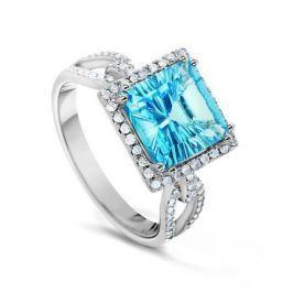 Кольцо с бриллиантами и топазами из белого золота VALTERA 53753