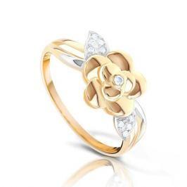 Кольцо из розового золота 87767