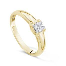 Кольцо с бриллиантами из желтого золота VALTERA 17519