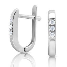 Серьги с бриллиантами из белого золота VALTERA 91790