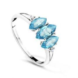 Кольцо с бриллиантами и топазами из белого золота VALTERA 60743