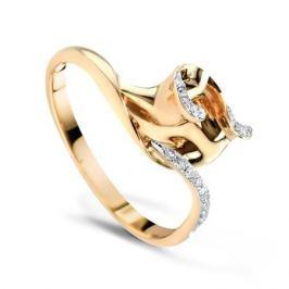 Кольцо с бриллиантами из розового золота VALTERA 57767