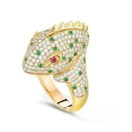 Кольцо с драгоценными и полудрагоценными камнями из розового золота VALTERA 44695