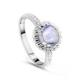 Кольцо с аметистами и бриллиантами из белого золота VALTERA 53869