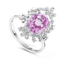 Кольцо с аметистами и бриллиантами из белого золота VALTERA 60420