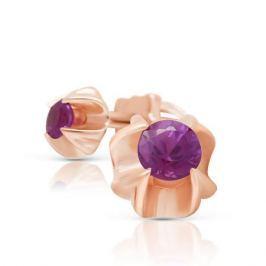 Серьги с рубинами из розового золота 88639