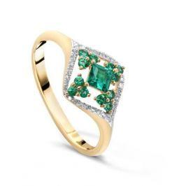 Кольцо с изумрудами и бриллиантами из розового золота VALTERA 48807